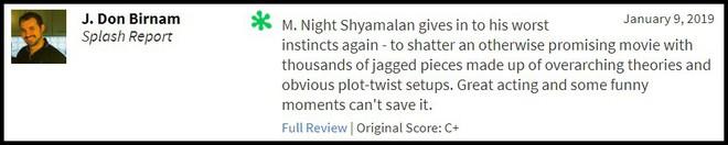 """""""Glass"""" bị giới phê bình chê tơi tả, sự nghiệp của M. Night Shyamalan quả là lên xuống như biểu đồ hình sin - Ảnh 2."""