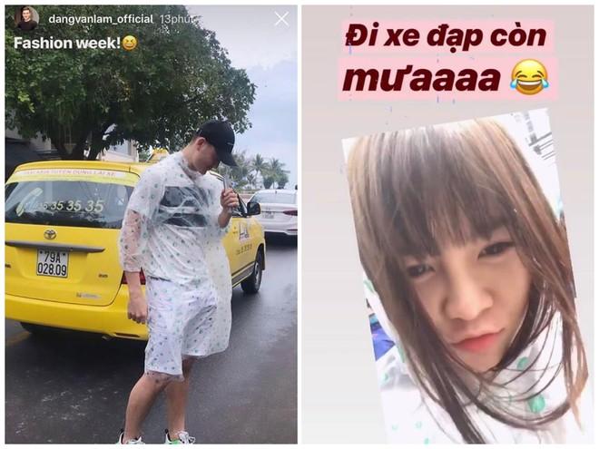 Lâm Tây nghỉ dưỡng với bạn gái ở Nha Trang, lại còn diện áo mưa đôi cực tình cảm - Ảnh 1.