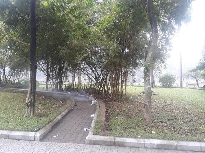 Cử lực lượng công an tinh nhuệ để truy tìm hung thủ vụ người phụ nữ tử vong lõa thể trong công viên ở Hà Nội - Ảnh 1.