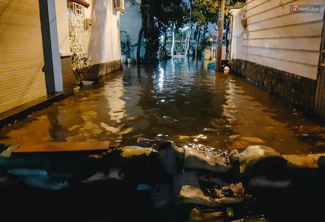Ảnh: Triều cường tiếp tục dâng cao, nhiều nhà dân trên phố nhà giàu ở Sài Gòn bị cô lập vì xung quanh toàn nước - ảnh 7
