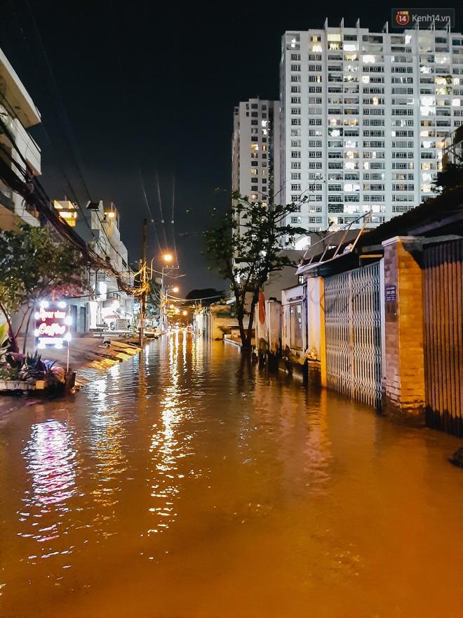 Ảnh: Triều cường tiếp tục dâng cao, nhiều nhà dân trên phố nhà giàu ở Sài Gòn bị cô lập vì xung quanh toàn nước - ảnh 4
