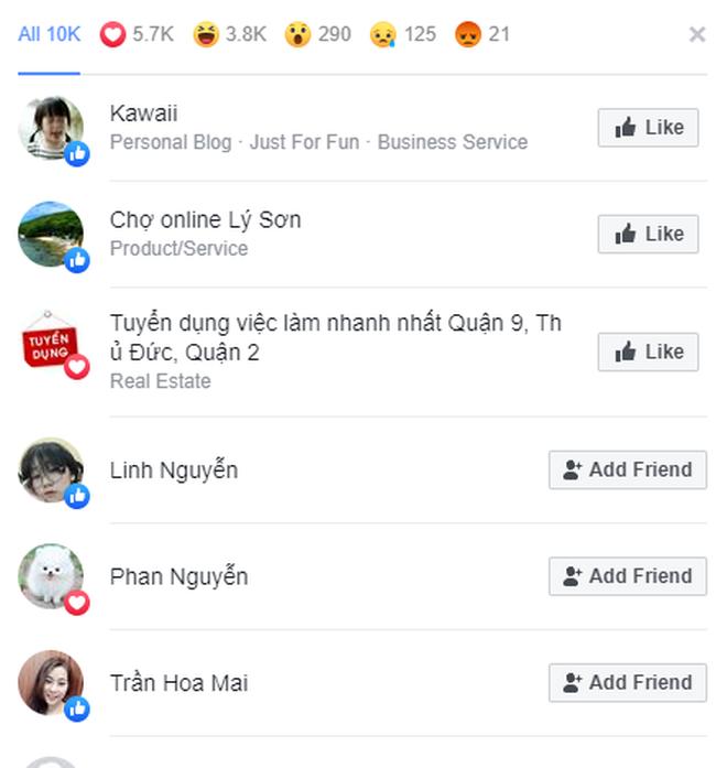 Facebook Việt Nam có biến: Không xuất hiện danh sách Like, chỉ đếm Like tối đa đến 10.000? - ảnh 4