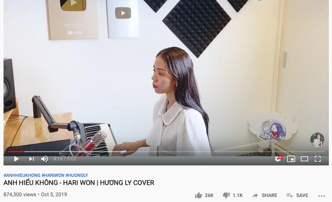 Hệ quả giáng xuống Hương Ly sau loạt scandal, clip cover mới nhất không đạt nổi 1 triệu view sau 5 ngày và ngập trong bình luận chỉ trích - Ảnh 2.