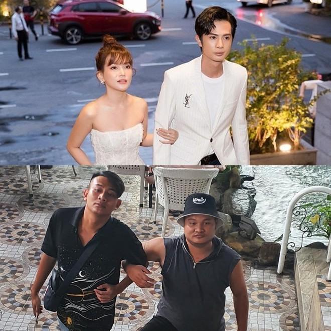 Lần đầu dự sự kiện cùng Sĩ Thanh sau khi công khai tình yêu lệch 6 tuổi, Huỳnh Phương bị hội anh em FAP TV cà khịa muối mặt thế này - ảnh 2