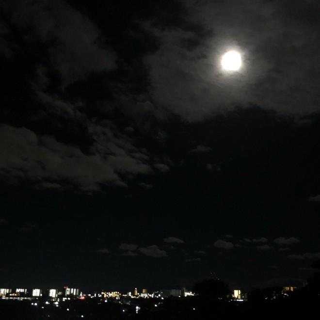 Trái ngược với bầu trời tím dự báo điềm dữ trước khi Hagibis đổ bộ, dân Nhật hứng khởi với cảnh quang đãng, trăng sáng rực khi siêu bão đi qua - ảnh 11