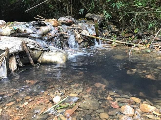 Cơ quan chức năng tiến hành kiểm tra, lấy mẫu nước tại đầu nguồn Nhà máy nước sông Đà - Ảnh 3.