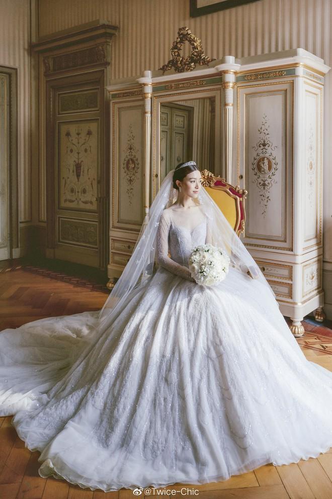 Váy cưới của Văn Vịnh San trong hôn lễ với chồng đại gia: chiếc lộng lẫy xa hoa, chiếc siêu to khổng lồ với mức giá trên trời gây choáng - ảnh 2