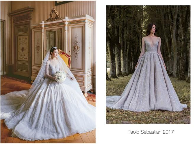 Váy cưới của Văn Vịnh San trong hôn lễ với chồng đại gia: chiếc lộng lẫy xa hoa, chiếc siêu to khổng lồ với mức giá trên trời gây choáng - ảnh 4