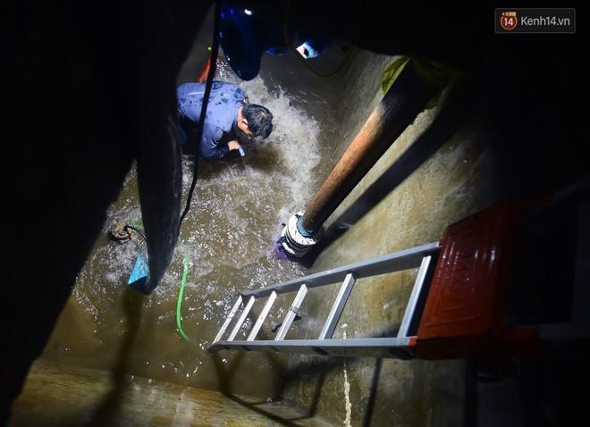 Thau rửa bể ngầm, bể trên cao của tổ hợp chung cư HH Linh Đàm để đón nước sạch - ảnh 5