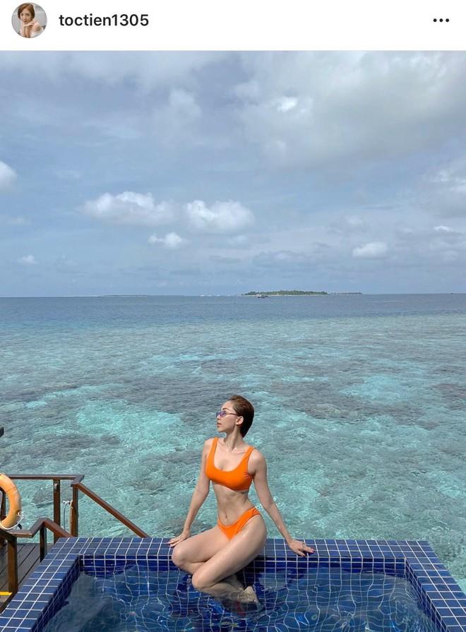 Trái ngược ảnh bị dìm, Tóc Tiên tung loạt khoảnh khắc khoe body cực gợi cảm trong kỳ nghỉ ở Maldives - ảnh 1