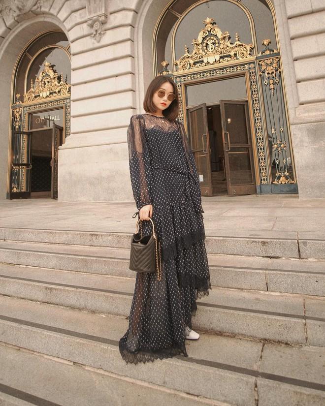 Bỗng thấy không kiểu váy nào vượt qua được váy dài về độ sang chảnh, yêu kiều và hợp rơ với tiết trời se lạnh - ảnh 13