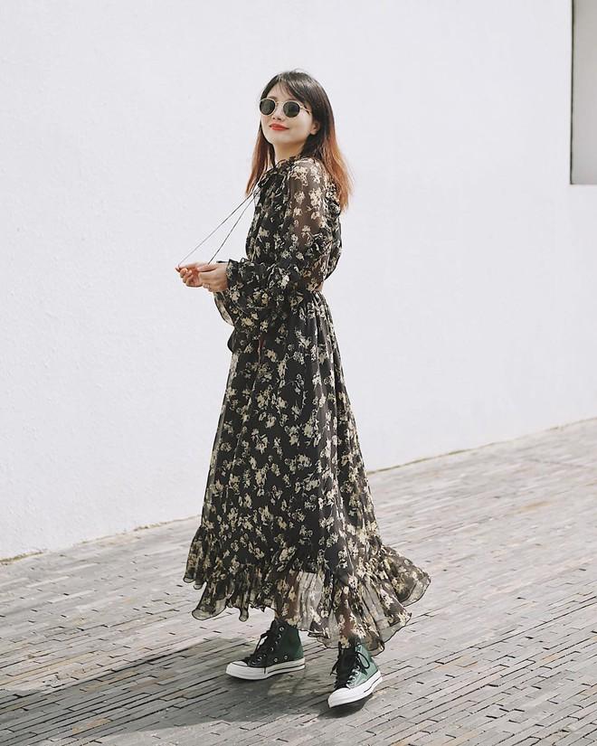 Bỗng thấy không kiểu váy nào vượt qua được váy dài về độ sang chảnh, yêu kiều và hợp rơ với tiết trời se lạnh - ảnh 5