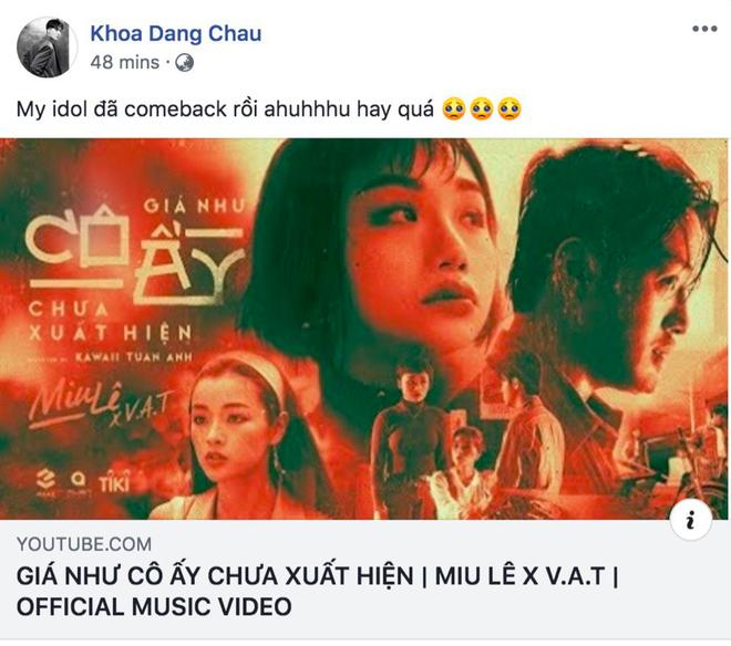 Bùng nổ phản ứng về MV mới của Miu Lê: Karik, Trung Quân Idol và loạt sao tấm tắc khen nhạc hay thấm thía nhưng drama về người thứ 3 có vẻ nhàm? - ảnh 6