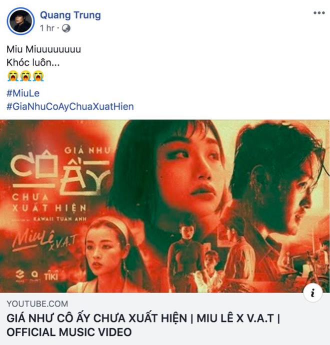 Bùng nổ phản ứng về MV mới của Miu Lê: Karik, Trung Quân Idol và loạt sao tấm tắc khen nhạc hay thấm thía nhưng drama về người thứ 3 có vẻ nhàm? - ảnh 5