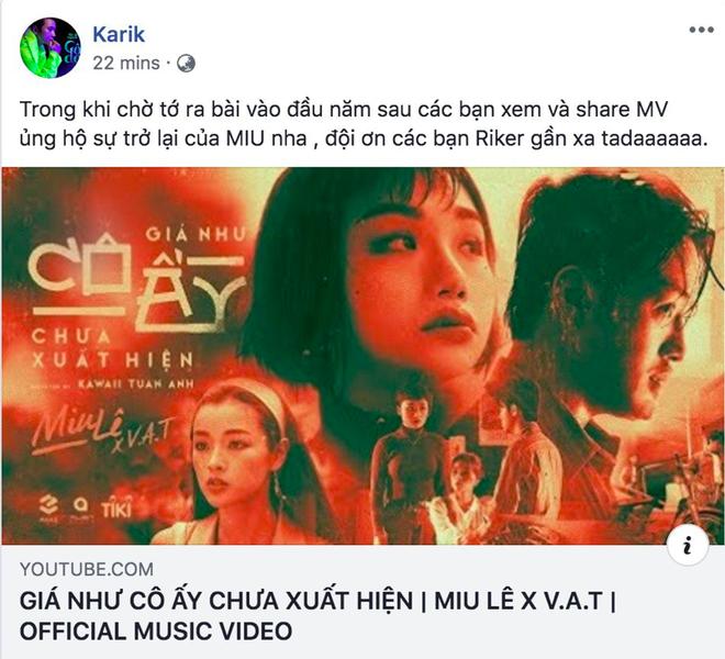 Bùng nổ phản ứng về MV mới của Miu Lê: Karik, Trung Quân Idol và loạt sao tấm tắc khen nhạc hay thấm thía nhưng drama về người thứ 3 có vẻ nhàm? - ảnh 2