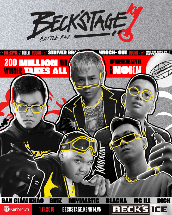 Beck'Stage Battle Rap – Giải đấu chất lượng và khắc nghiệt nhất từ trước đến nay dành cho các Rapper Việt đã chính thức bắt đầu! - ảnh 1