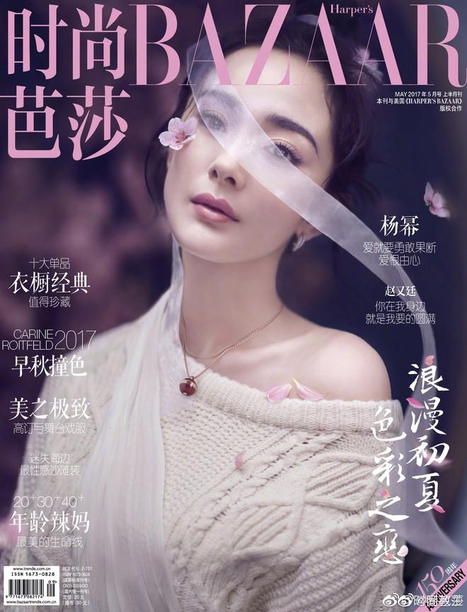 Dù Triệu Lệ Dĩnh cố gắng thế nào thì vẫn thua đau trước Dương Mịch, Lưu Diệc Phi khi lên bìa tạp chí với cùng 1 tạo hình - ảnh 3
