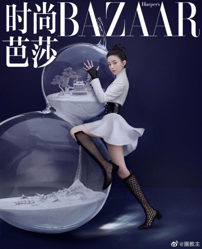 Dù Triệu Lệ Dĩnh cố gắng thế nào thì vẫn thua đau trước Dương Mịch, Lưu Diệc Phi khi lên bìa tạp chí với cùng 1 tạo hình - ảnh 6