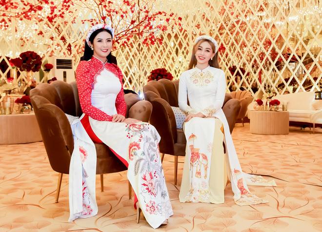 Ngọc Hân, Phương Nga dự đám cưới 5 ngày của con gái đại gia Ấn Độ: Diện Áo dài nền nã, nổi bật bên cô dâu chú rể - ảnh 8