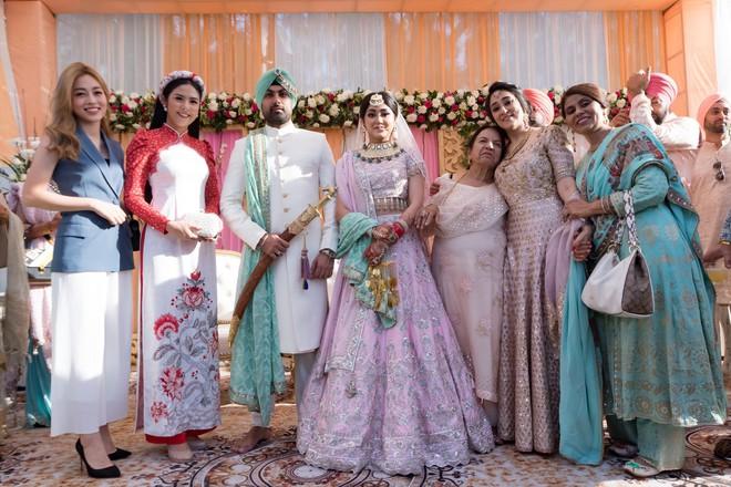 Ngọc Hân, Phương Nga dự đám cưới 5 ngày của con gái đại gia Ấn Độ: Diện Áo dài nền nã, nổi bật bên cô dâu chú rể - ảnh 9