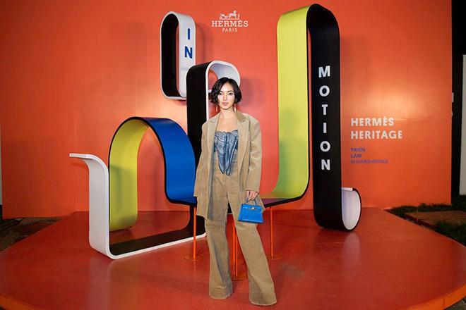 Châu Bùi, Thảo Nhi Lê cá tính; Khánh Linh lại nữ tính hết sức dự triển lãm Hermès Heritage - ảnh 3