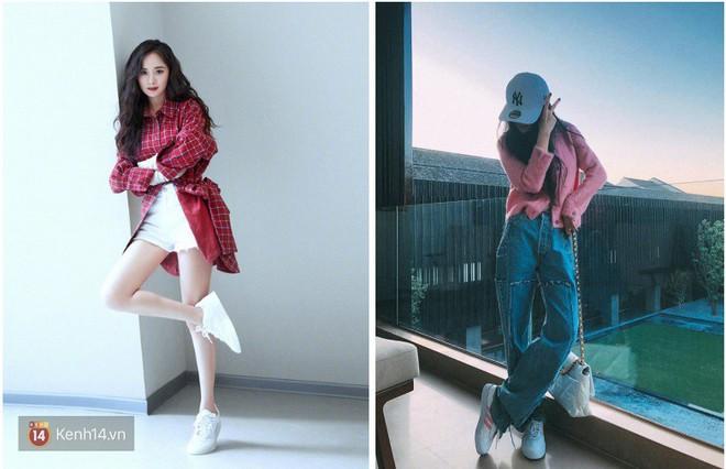Dương Mịch có một chiêu pose hình tủ từ bé đến lớn: Bảo sao ảnh quảng cáo đến street style đều đẹp miễn chê - ảnh 1