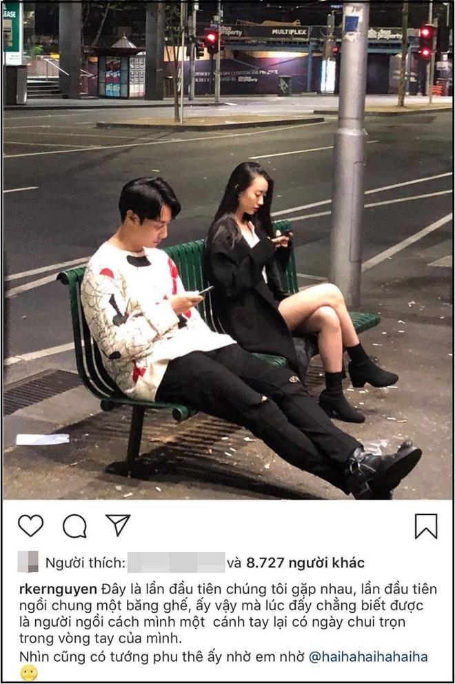 Khoe ảnh lần đầu gặp bạn gái tình cờ như phim ngôn tình, Rocker Nguyễn khiến netizen không khỏi thắc mắc vì 1 chi tiết - ảnh 1