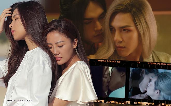 Liên tiếp Văn Mai Hương và Nguyễn Trần Trung Quân đưa nụ hôn đồng giới vào MV: thẳng thắn khai thác đề tài LGBT hay chỉ là yếu tố gây sốc? - ảnh 2