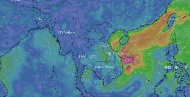 Tin bão khẩn cấp: Bão số 5 đã áp sát Bình Định - Phú Yên, giật cấp 12 và gây mưa rất lớn - Ảnh 1.