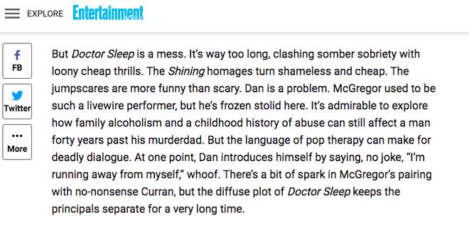 Phản ứng khán giả xem sớm Doctor Sleep: Giới phê bình chê banh xác, người dưới đất khen hết lời? - ảnh 10