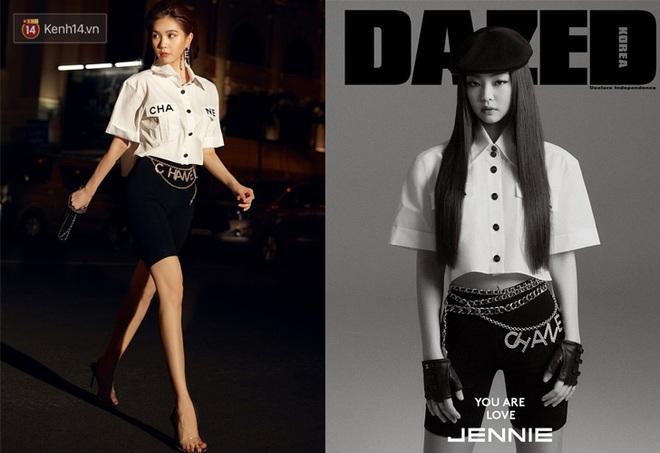 Duyên nợ đụng hàng tới 4 lần: Ngọc Trinh có thể thua Jennie ở khí chất thời trang nhưng riêng về khoản khoe dáng nuột thì đôi khi còn lấn lướt - ảnh 7