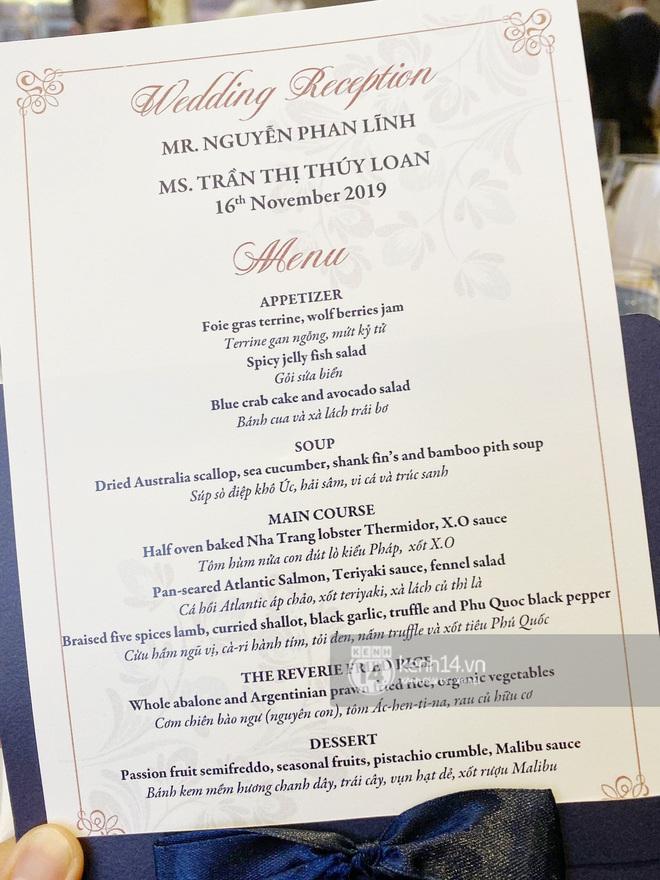 Choáng với thực đơn vô cùng giàu sang cả về chất và lượng của đám cưới Bảo Thy và ông xã doanh nhân - Ảnh 3.