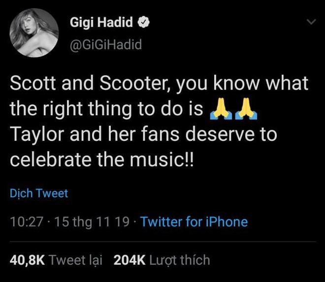 Ngoài Selena Gomez, Gigi Hadid, Halsey, Camila Cabello và hội bạn thân đều lên tiếng ủng hộ Taylor Swift trong cuộc chiến bản quyền với Scooter Braun - Ảnh 5.