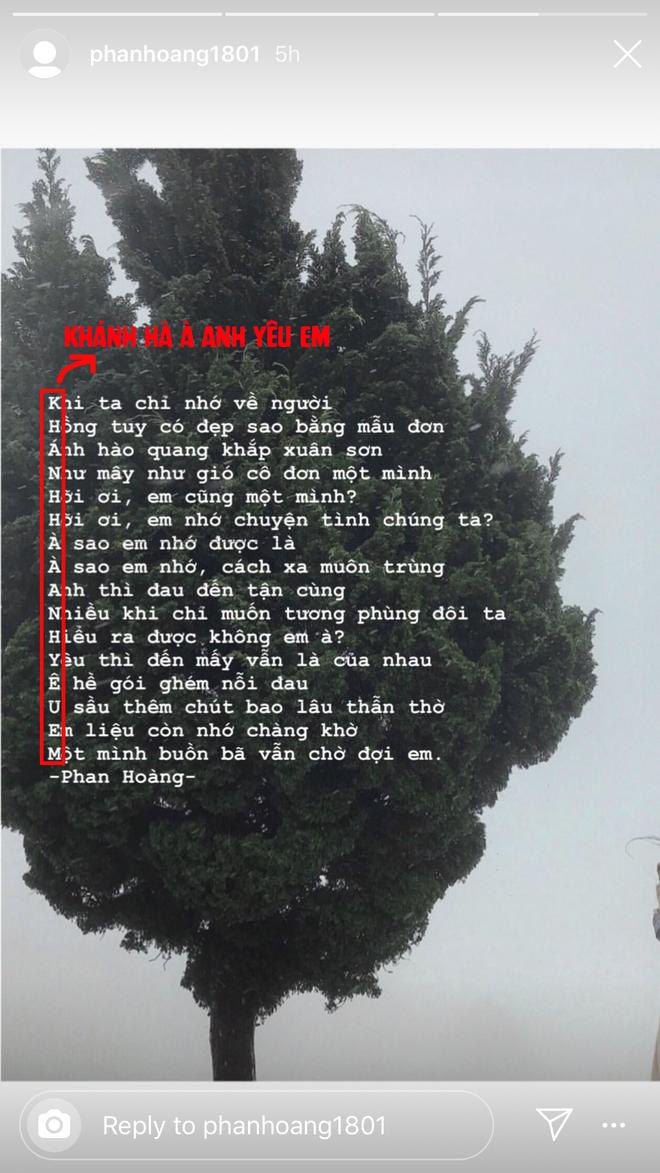 Nỗ lực như Phan Hoàng: Làm thơ thôi chưa đủ, còn cất công gửi gắm bí mật ở mỗi chữ cái đầu câu để làm lành với Khánh Hà - ảnh 3