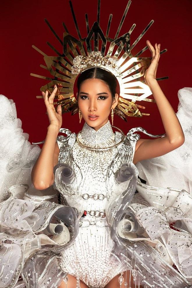 Netizen ủng hộ Hoàng Thùy mang trang phục Cò sải cánh tại Miss Universe 2019 - ảnh 9