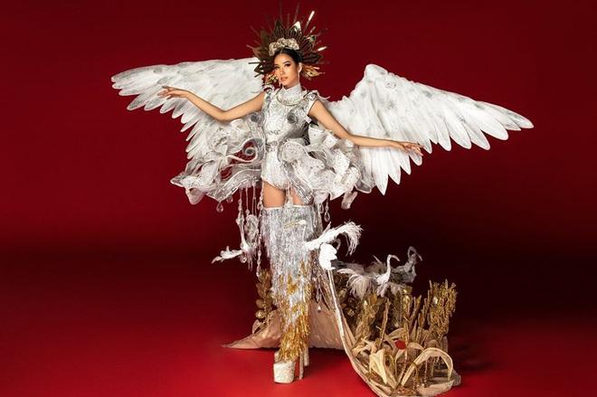 Netizen ủng hộ Hoàng Thùy mang trang phục Cò sải cánh tại Miss Universe 2019 - ảnh 1