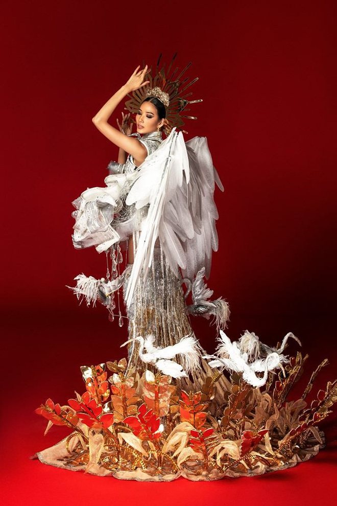 Netizen ủng hộ Hoàng Thùy mang trang phục Cò sải cánh tại Miss Universe 2019 - ảnh 8