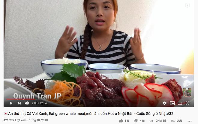 Đăng video ăn thịt cá voi xanh mua ở Nhật khiến dân mạng tranh cãi nảy lửa, Quỳnh Trần JP lên tiếng đáp trả cực gắt - Ảnh 6.
