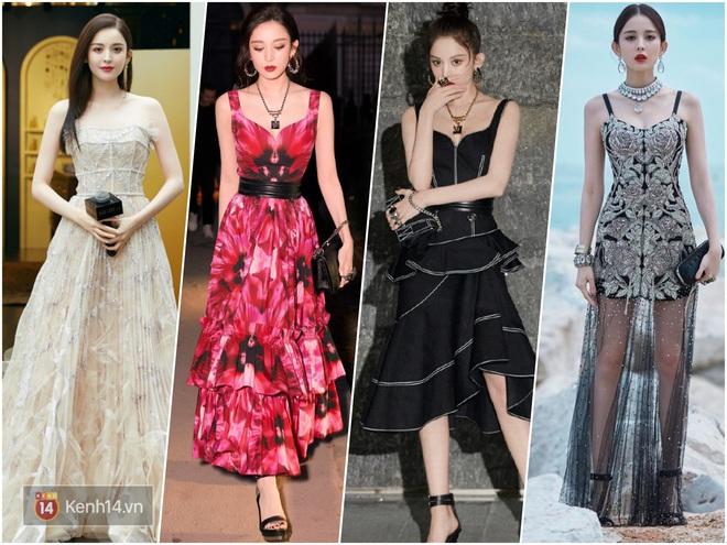 Nữ hoàng thảm đỏ Cbiz 2019: Phạm Gia sa sút phong độ, Triệu Vy ngày một đẳng cấp, Angela Baby và Quan Hiểu Đồng đua đồ Haute Couture - ảnh 32