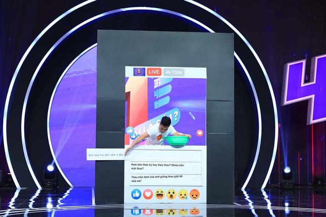 Lê Dương Bảo Lâm trổ tài bán kem trộn trên truyền hình, đòi block hết dàn sao Việt - ảnh 3