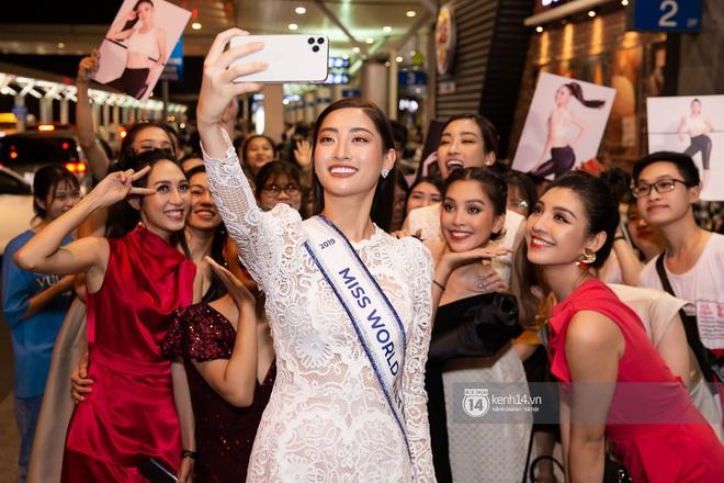 Đỗ Mỹ Linh, Tiểu Vy và dàn mỹ nhân gây náo loạn sân bay khi tiễn Thùy Linh lên đường đi Anh dự thi Miss World - ảnh 8