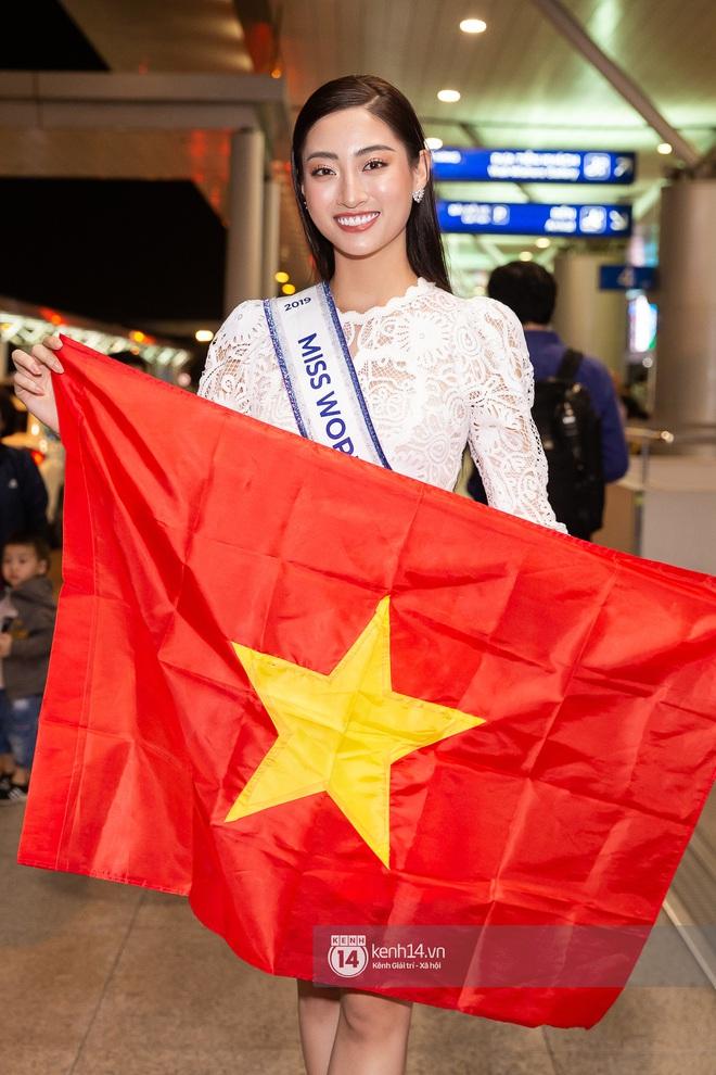 Đỗ Mỹ Linh, Tiểu Vy và dàn mỹ nhân gây náo loạn sân bay khi tiễn Thùy Linh lên đường đi Anh dự thi Miss World - ảnh 12