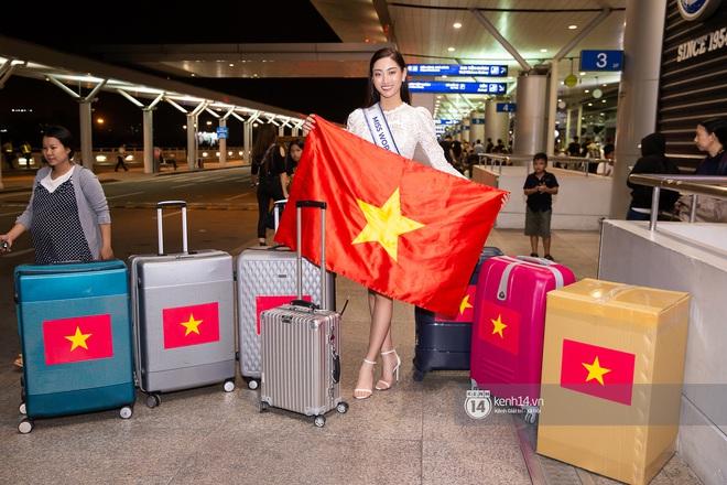 Đỗ Mỹ Linh, Tiểu Vy và dàn mỹ nhân gây náo loạn sân bay khi tiễn Thùy Linh lên đường đi Anh dự thi Miss World - ảnh 10