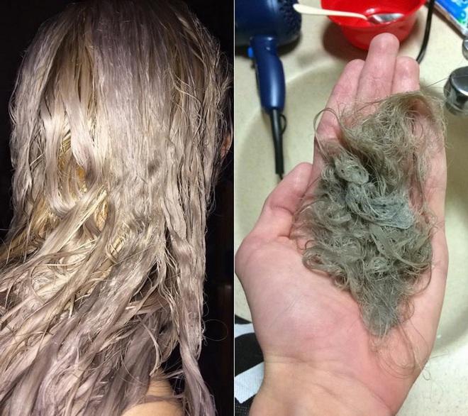 Hoảng hồn tình cảnh mẹ 3 con tự tẩy tóc tại nhà khiến mái tóc bị tổn thương đến nỗi phải cắt ngắn chờ phục hồi - ảnh 9