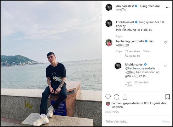 Rapper Khói và Bảo Hân vẫn tương tác nhiệt tình trên Instagram sau khi tuyên bố chia tay: Không yêu vẫn làm bạn là có thật? - ảnh 1