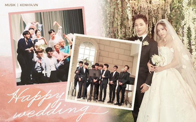 Idol Kpop khoe giọng ở đám cưới: BTS, EXO, TWICE... chiếm trọn spotlight, hạnh phúc nhất là Taeyang khi được cất lên bản hit trước mặt cô dâu của mình - Ảnh 1.