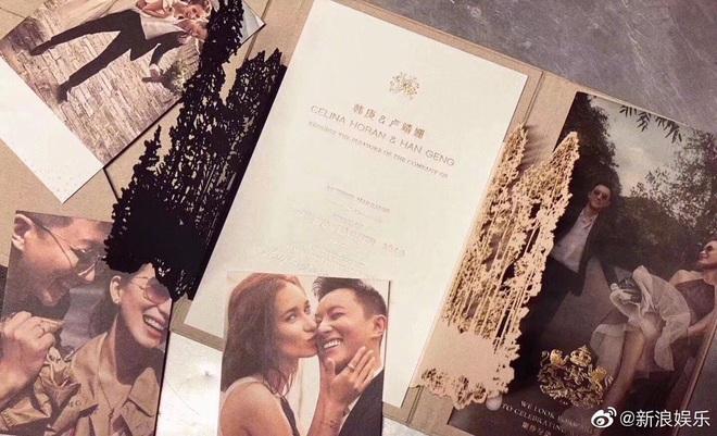Lộ thiệp cưới của Hangeng và mỹ nhân Chiến Lang 2, mỹ nam ngày ấy bao người theo đuổi chuẩn bị rước nàng về dinh - ảnh 1