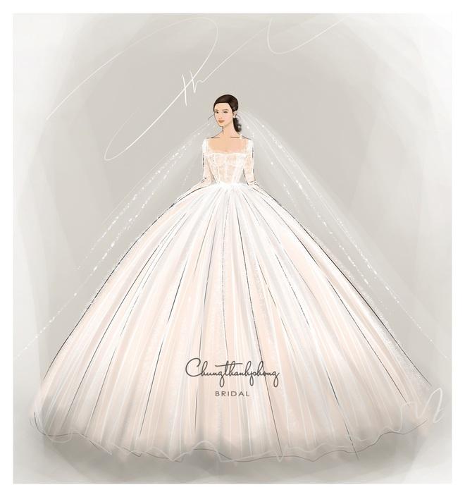 Chính thức hé lộ 2 mẫu váy cưới cực lộng lẫy, được đặt may riêng theo yêu cầu khắt khe của Đông Nhi cho hôn lễ - ảnh 2