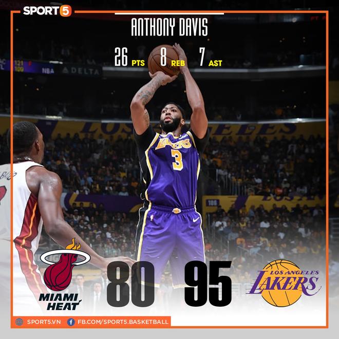 NBA 19-20: Bùng nổ từ hiệp 3 trước Miami Heat, Los Angeles Lakers đón trận thắng thứ 7 liên tiếp - ảnh 1