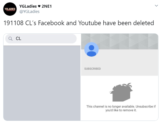 Tuyệt tình như YG: CL vừa rời đi đã bị xóa sạch Facebook lẫn Youtube, cuộc chia tay có dấu hiệu cơm không lành canh không ngọt? - ảnh 1